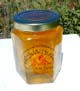 Honey 8 oz Glass Gift Jar - Honeycomb