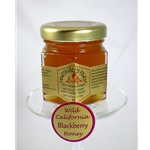 Honey 2 oz Party Favor Glass Jar - Blackberry