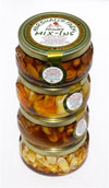 Mix-Ins ~ 4 pack Nuts & Fruit Mix-Ins - 10 oz. Glass Tureen Jars