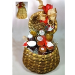 "Bee Skep Gift Basket 18"" tall"