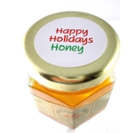 Honey 2 oz. Party Favor Glass Jar - Happy Holidays
