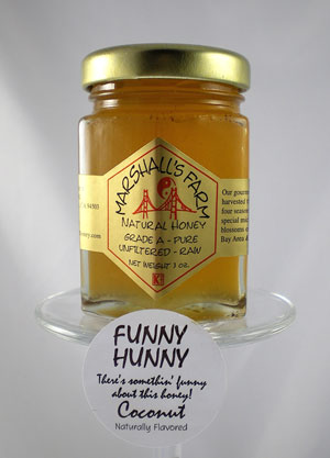 Honey 3 oz. Glass Sampler Jar - Coconut Honey, Funny Hunny