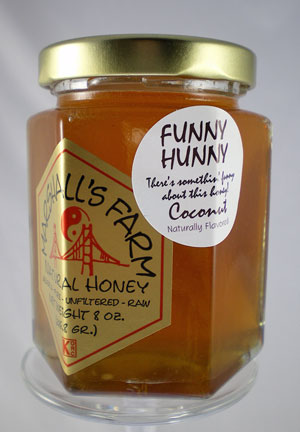 Honey 8 oz. Glass Gift Jar - Coconut Funny Hunny