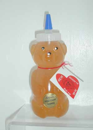 Honey 12 oz. Plastic Squeeze Bear - California Wildflower