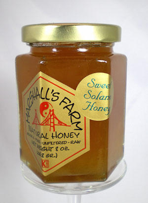 Honey 8 oz Glass Gift Jar - Sweet Solano Wildflower