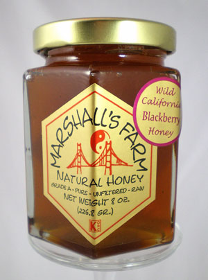 Blackberry Honey 8 oz Glass Gift Jar