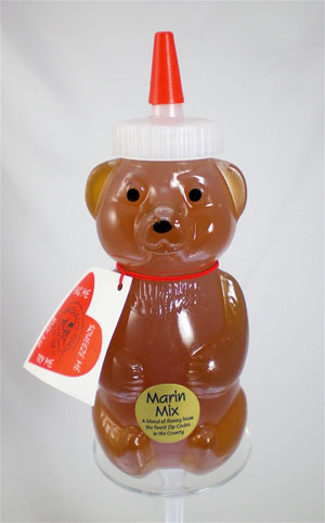 Honey 12 oz. Plastic Squeeze Bear - Marin Mix