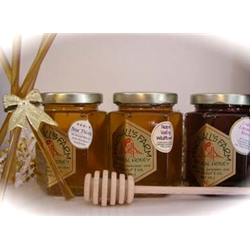 Honey 8 oz. Gift Jars - 3 Pack w/ Honey Dipper