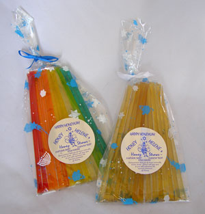 Honey Straw Pack - Happy Hanukah (Honeykah) Theme Kosher Honeys