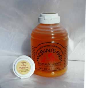 Honey 16 oz Plastic Squeeze Skep Bottle - Napa Valley Wildflower