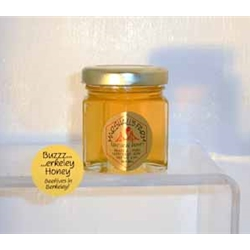 Honey 2 oz Party Favor Glass Jar - Buzzerkeley Wildflower