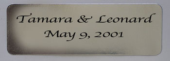 Silver Foil Personalized Labels, 24 count. Enter up to 3 lines of text in notes on order page.
