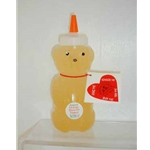 Honey 12 oz. Plastic Squeeze Bear - Orange Blossom