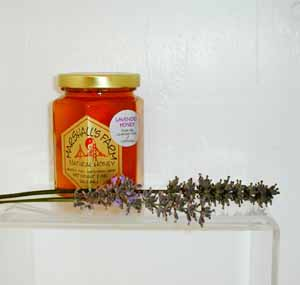 Honey 8 oz. Glass Gift Jar - Lavender Infused