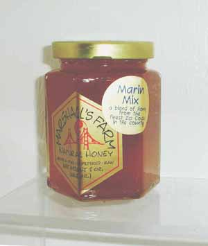 Honey 8 oz. Glass Gift Jar - Marin Mix