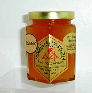 Honey 8 oz. Glass Gift Jar - Mt. Tam