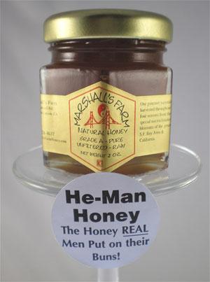 Honey 2 oz  party favor glass jar - He-Man Honey Single 2 oz  Jar