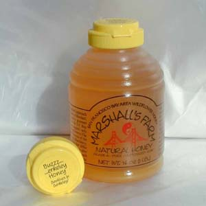 Honey 16 oz. Plastic Squeeze Skep Bottle - Buzzerkeley Wildflower