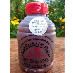 16 oz. East Bay Wildflower, 1 lb. plastic squeeze skep bottle