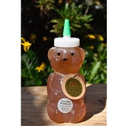12 oz. East Bay Wildflower Plastic Squeeze Honey Bear