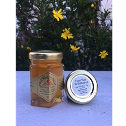 3 oz. East Bay Wildflower Honey, sampler glass jar