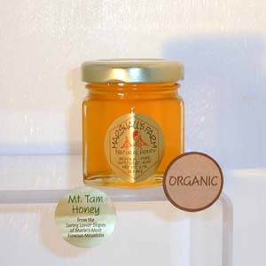Honey 2 oz. Party Favor Glass Jar - Mt. Tam Wildflower