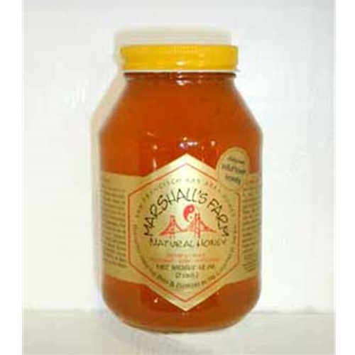 Honey 3 lb. Quart Glass Jar - California Wildflower